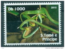 S. Tomé E Principe ' Hors Série ' 2015  Mnh*** - Snakes
