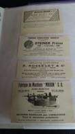 Lot Anciennes Publicités Bienne Suisse Horlogerie 1912 - Advertising