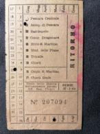 Old Ticket 1950's / 60's MAJELLA AUTOTRANSPORTI SOCIETA P. AZIONI Pescara Italy - Tickets - Entradas