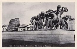 PHOTOCARD ARGENTINA BUENOS AIRES MONUMENTO EL CANTO AL TRABAJO - Argentine
