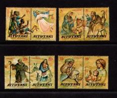 AITUTAKI    1977    Christmas    Set  Of  4  Pairs    MNH - Aitutaki