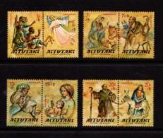 AITUTAKI    1977    Christmas  Childrens  Fund    Set  Of  4  Pairs    MNH - Aitutaki