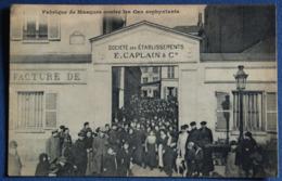FABRIQUE DE MASQUES  Contre Les Gaz Asphyxiants .E.CAPLAIN & Cie ( Ecrite En 1916.) - Matériel