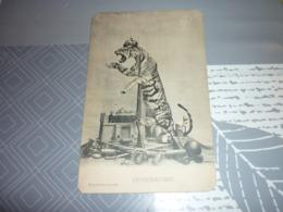 Carte Postale Guerre Caricature De L'Allemagne Croquemitaine Militaire - Oorlog 1914-18