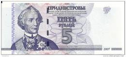 TRANSNISTRIE 5 RUBLEI 2007 UNC P 43 B - Moldavië
