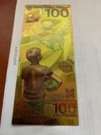 Russia FIFA World Cup Gold Foil Souvenir Banknote - Russia