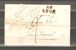 Lot  1379    //    Lettre A/C --68 LYON DU 3 AOUT 1822 - Other