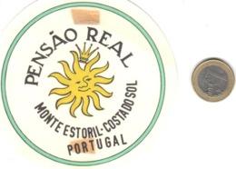ETIQUETA DE HOTEL  -  PENSAO REAL  -MONTE ESTORIL  -PORTUGAL - Etiquetas De Hotel