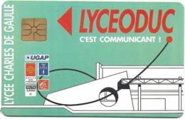 CARTE A PUCE CHIP CARD CARTE A USAGE MULTIPLES AGIL CARTE  MULTI-SERVICES LYCEODUC  LYCÉE CHARLES DE GAULLE  MURET - France