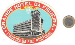 ETIQUETA DE HOTEL  - GRANDE HOTEL DA FIGUEIRA  -FIGUEIRA DA FOZ  -PORTUGAL - Etiquetas De Hotel