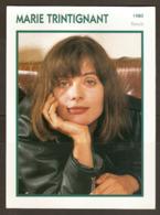 PORTRAIT DE STAR 1980 FRANCE - ACTRICE MARIE TRINTIGNANT - ACTRESS CINEMA FILM PHOTO - Fotos