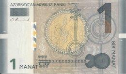 AZERBAIDJAN 1 MANAT 2017 UNC P 31 B - Azerbaïjan
