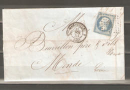 Lot  1436    //     Nr  14  Sur    Lettre --losange  1896  MARSEILLE - Other