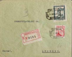 España. República Española Correo Certificado. Sobre 673, 686. 1935. 1 Pts Pizarra Y 30 Cts Carmín. Certificado De MADRI - Briefe U. Dokumente