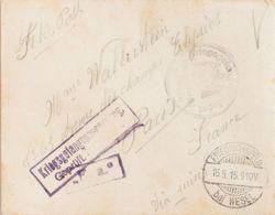 """Alemania, Correo De Campaña / Militar. Sobre Yv . 1915. Carta De Un """"Prisionero"""" De Guerra Francés Desde El Campo De FRI - [1] ...-1849 Precursores"""