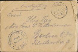 Alemania, Correo De Campaña / Militar. Sobre Yv . 1917. Dirigida A BERLIN. Marca De Franquicia PASSARTILLERIE-REGIMENT N - [1] ...-1849 Precursores