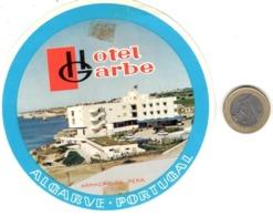 ETIQUETA DE HOTEL  - HOTEL GARBE  -ALGARVE  -PORTUGAL - Etiquetas De Hotel