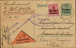 Bélgica Ocupación Alemana, Entero Postal. Sobre Yv 3. 1916. 5 Cts Verde Sobre Tarjeta Entero Postal De NIVELLES A BRAINE - Otros - Europa