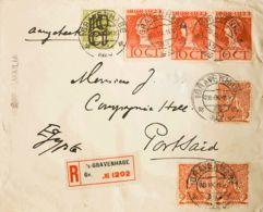 Holanda. Sobre Yv 108(3), 113, 121(3). 1930. 2 Cts Rojo, Tres Sellos, 10 Cts Sobre 3 Cts Y 10 Cts Rojo, Tres Sellos. Cer - Holanda