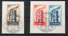 Luxemburgo. Fragmento Yv 514/16. 1957. Serie Completa, Sobre Fragmentos. MAGNIFICA. Yvert 2015: 75 Euros. - Sin Clasificación