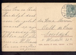 Willemstad 1 Langebalk - 1928 - Poststempel