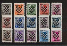Croacia. MNH **Yv 9/23. 1941. Serie Completa, Quince Valores. MAGNIFICA. Yvert 2014: +44 Euros. - Croacia