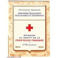 CARNET CROIX ROUGE SANS PUB N° 2003 ANNEE 1954 NEUF** Côte 180 Euros - Carnets