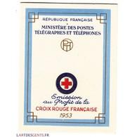 CARNET CROIX ROUGE SANS PUB N° 2002 ANNEE 1953 NEUF** Côte 160 Euros - Carnets
