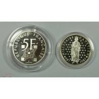 Argent 5 Francs BE 1989 Eiffel + 10 Francs BE 1987 Capétien - K. 10 Francs