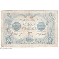 5 FRANCS BLEU 3 Juillet 1915 TB  Fay: 2-29 - 1871-1952 Antichi Franchi Circolanti Nel XX Secolo