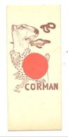 Marque Pages: Librairie CORMAN - Livre,   Bruxelles, Ostende, Le Zoute  (b260/4) - Marque-Pages