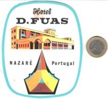 ETIQUETA DE HOTEL  - HOTEL D.FUAS -NAZARÉ   -PORTUGAL - Etiquetas De Hotel