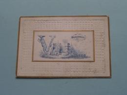 BRACONNIER > Lith. J. Bevernaege Fils Audenarde ( Porcelein / Porcelaine ) Formaat +/- 10 X 7 Cm - Visitekaartjes