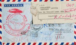 España. 2º Centenario Correo Aéreo. Sobre 2228, 2119. 1976. 20 Pts Granate Y 15 Pts Verde. Correo Aéreo Certificado De M - Aéreo