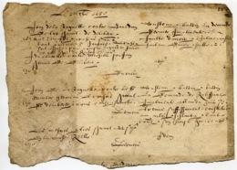 RC 14504 MANUSCRIT 1650 A DÉCHIFFRER ( RECTO - VERSO ) - Manuscrits