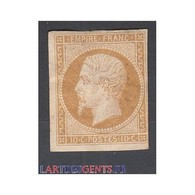 TIMBRE NAPOLEON N°13B - 10 C.  Neuf* Signé Calvès - 1853-1860 Napoleone III