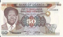 OUGANDA 50 SHILLINGS ND1985 UNC P 20 - Oeganda