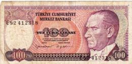 """TURKEY 100 LIRA 1970 (1984) F P-194b """"free Shipping Via Regular Air Mail (buyer Risk) - Turkije"""