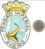 ETIQUETA DE HOTEL  - HOTEL PENSAO IMPERIAL  -AVEIRO-PORTUGAL (CON CHANELA) - Etiquetas De Hotel