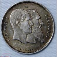 BELGIQUE - 1 Franc 1830-1880  50e Anniversaire De L'Indépendance Belge Léopold II - Belgio