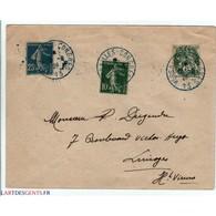 Oblitération Bleu Congrès 13 De Versailles Du 10 8 1926, 5,10,25 C - Oblitérés