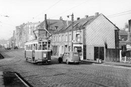 Lille. Rue Lequeux Près Du Dépôt De Canteleu. Tramways Ligne I. Cliché Jacques Bazin. 14-09-1959 - Tramways