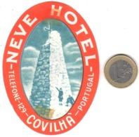ETIQUETA DE HOTEL  - NEVE HOTEL  -COVILHA -PORTUGAL (CON CHANELA) - Etiquetas De Hotel