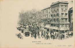 España. Tarjetas Postales. Tarjetas Postales. BARCELONA. RAMBLA DE LAS FLORES. (14 Hauser Y Menet. Madrid) - Spain