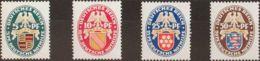 Alemania. MH *Yv 390/93. 1926. Serie Completa. MAGNIFICA. (Mi398/01 70 Euros) - [1] ...-1849 Precursores