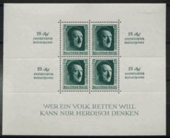 Alemania, Hoja Bloque. MH *Yv 11. 1937. Hoja Bloque (sobrecarga Nurnberg 1937). MAGNIFICA. Edifil 2018: 90 Euros. - [1] ...-1849 Precursores