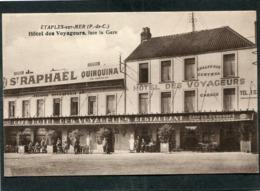 CPA - ETAPLES - Hôtel Des Voyageurs, Face à La Gare, Animé - Etaples