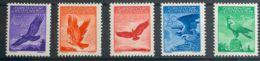 """Liechtenstein, Aéreo. MH *Yv 9/13a. 1934. Serie Completa. Papel """"Gaufré"""". MAGNIFICA. Yvert 2012: 100 Euros. - Liechtenstein"""