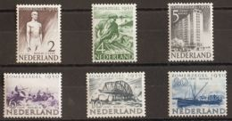 Holanda. MNH **Yv 535/40. 1950. Serie Completa. MAGNIFICA. Yvert 2016: 70 Euros. - Holanda