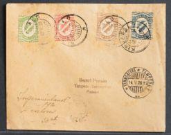Finlandia. Sobre Yv 1/4. 1920. 5 P Verde, 10 P Rosa, 25 P Bistre Y 50 P Azul. Dirigida A TAMPERE. En El Frente Llegada. - Unclassified